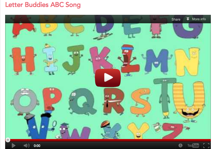 Letter Buddies ABC Theme Song Screenshot