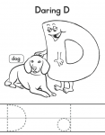 Letter Buddies Coloring D