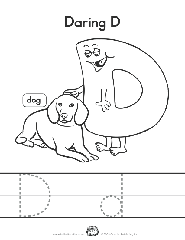 Download Main Page Part 4. Letter Buddies Coloring D. Printable. Printables Letter D At Clickcart.co