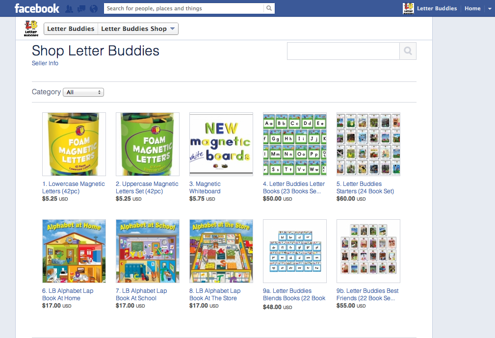 Letter Buddies Store on Facebook