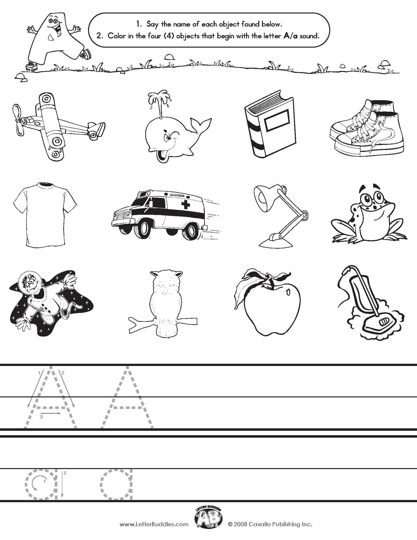 Letter Y Worksheets Letter buddies initial sounds