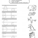 Letter Buddies Matching Worksheet - (A-E)