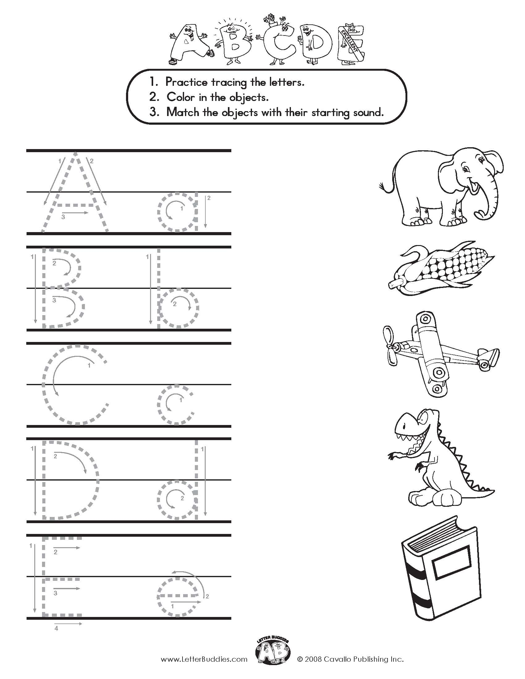 Worksheets Letter Formation Worksheets download main page part 5 letter buddies matching worksheet a e
