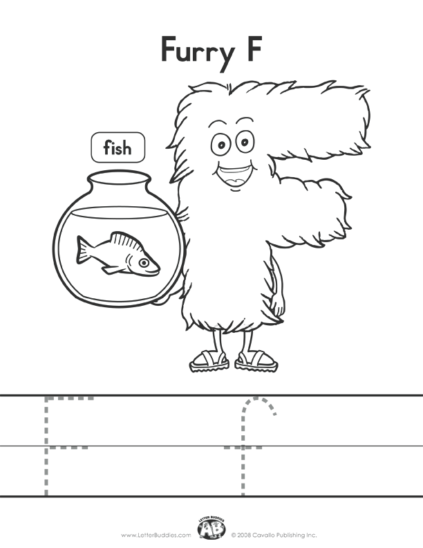 f coloring pages for preschool - photo #49