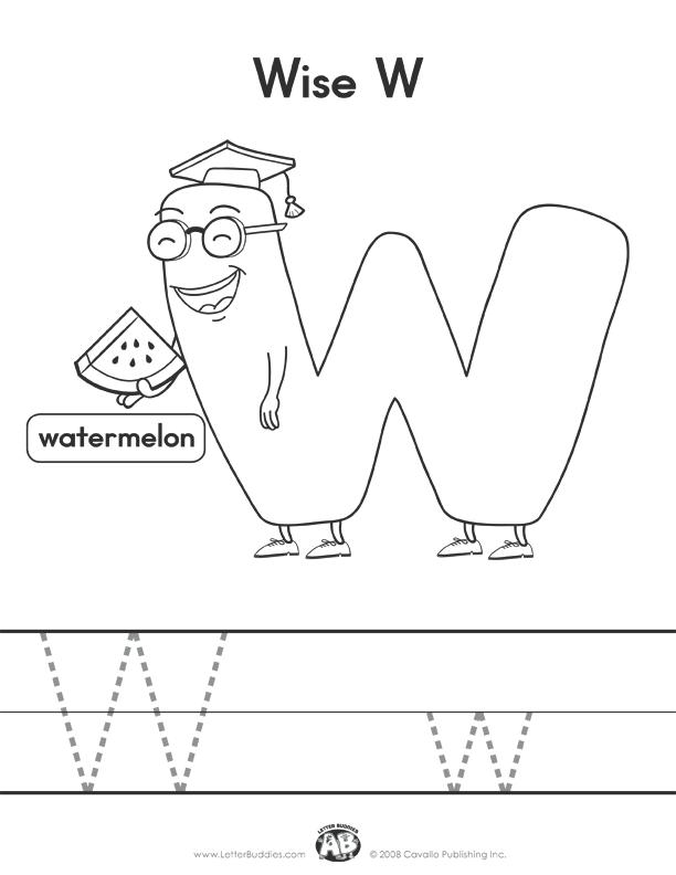 letter formation worksheet w color in your favorite letter buddies ...