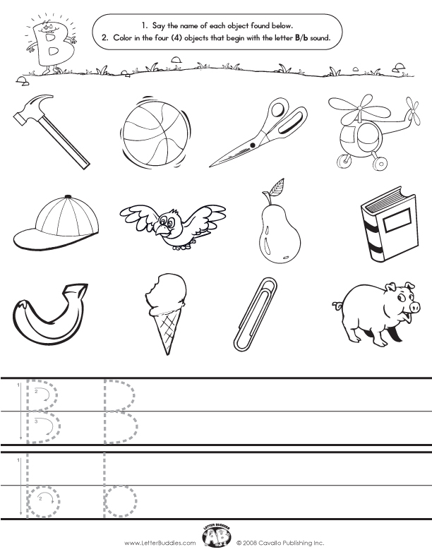 Initial Sounds – Worksheet B