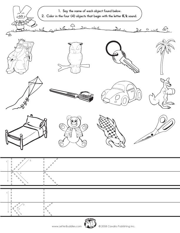 Letter J Sound Worksheet Initial sounds worksheet k.