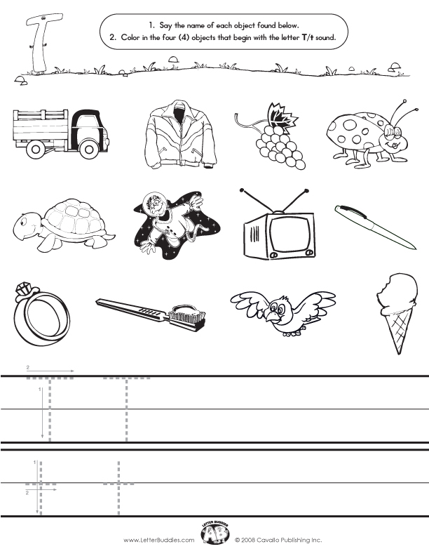Letter T Worksheets Initial sounds worksheets t.