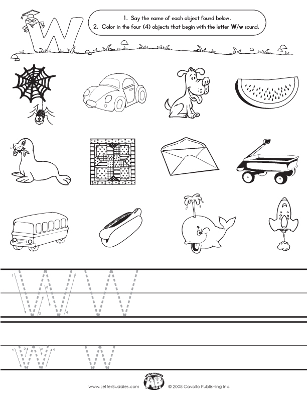Initial Sounds – Worksheet W