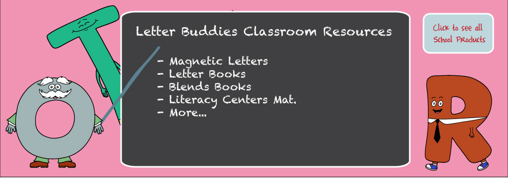Home – Letter Buddies School Books Slide