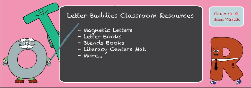 Home – Letter Buddies School Books Slide