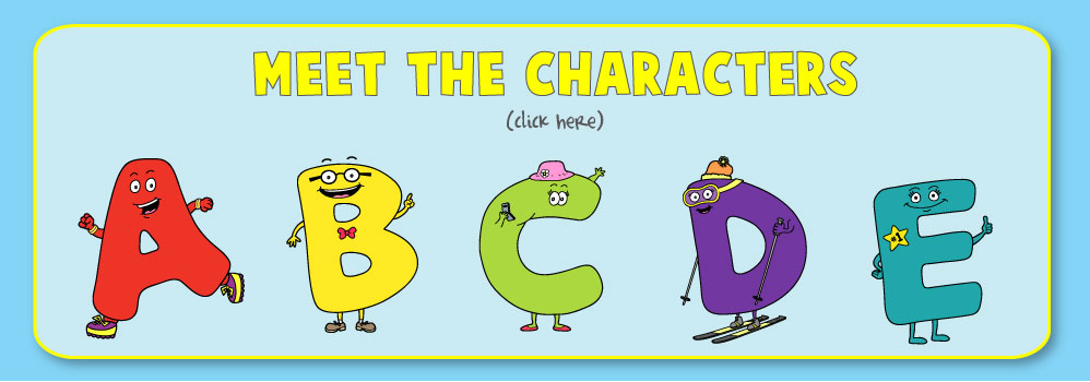 Home – Letter Buddies Characters Slide